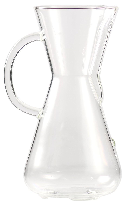 Chemex Cafetera de 3 tazas (440ml) con mango de cristal CM-1GH