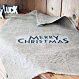 East Of India Hessian Vintage Style 'Merry Christmas' Santa Sack