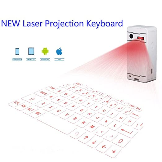 E-kinds Teclado Virtual del proyector Bluetooth, para teléfono ...