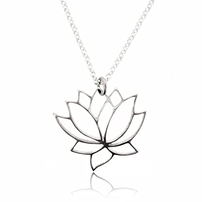 Amazoncom Sovats Lotus Flower Pendant For Necklace For Women 925