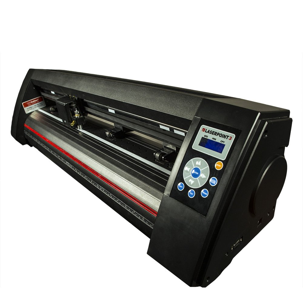 USCutter New 28'' LaserPoint 3 (LP3) Vinyl Cutter with ARMS Contour Cutting, Stand and Basket by USCutter (Image #2)