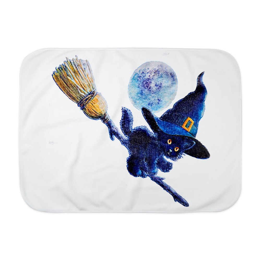 Royal Lion Baby Blanket White Halloween Kitten Witch Broom Moon
