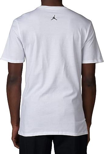 Jordan Retro 2 Elefante impresión Camiseta, L, Blanco/Negro ...