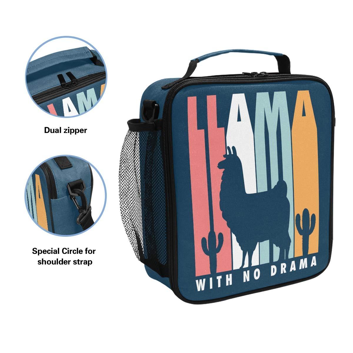da308c44074b Amazon.com: Llama Silohuette With No Drama Insulated Lunch Bag Tote ...