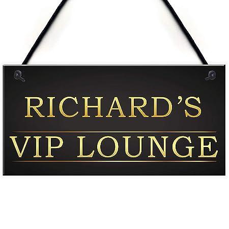 Mr.sign Richards VIP Lounge Cartel de Pared Madera Placa ...