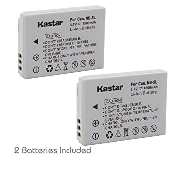 Amazon kastar nb 5l battery 2 pack for canon powershot kastar nb 5l battery 2 pack for canon powershot s100 s110 sciox Images