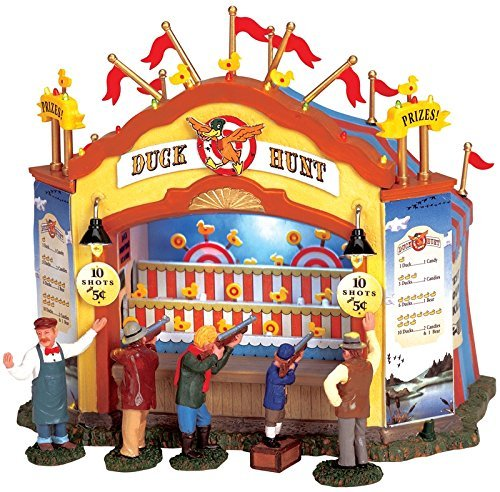 Lemax 64487 Duck Hunt Carnival Booth Amusement Park Game Christmas Village]()