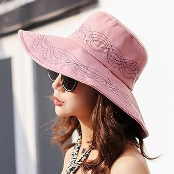 3c61da436 PVOWEJF Sombrero de Playa Sombrero para el Sol Sombrero de Verano para Mujer  Playa Plegable Sombreros