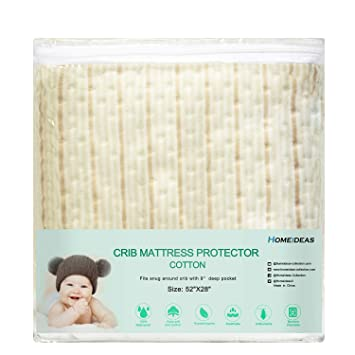 decorative mattress cover upholstered homeideas decorative pattern cotton crib mattress protector water resistant hypoallergenic breathable pad amazoncom