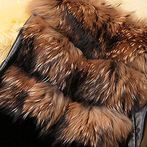 Brown Confortevole Outerwear Moda Abbottonatura Smanicato Elegante Autunno Casuale Invernali Fit Slim Grazioso Stlie Ecopelliccia Pelliccia Donna Giubotto Fashion Giacca Di Hot UwqpnfRxBz