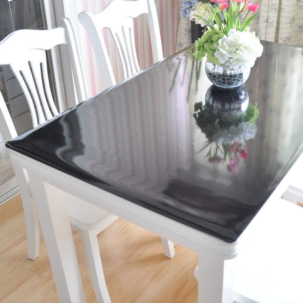 Shuangdeng ポリ塩化ビニールのテーブルクロス水およびオイルの証拠のテーブルクロス柔らかいガラスはテーブルクロスをつや消し (Color : D, サイズ : 100x100cm(39x39inch))   B07SCJTRDN