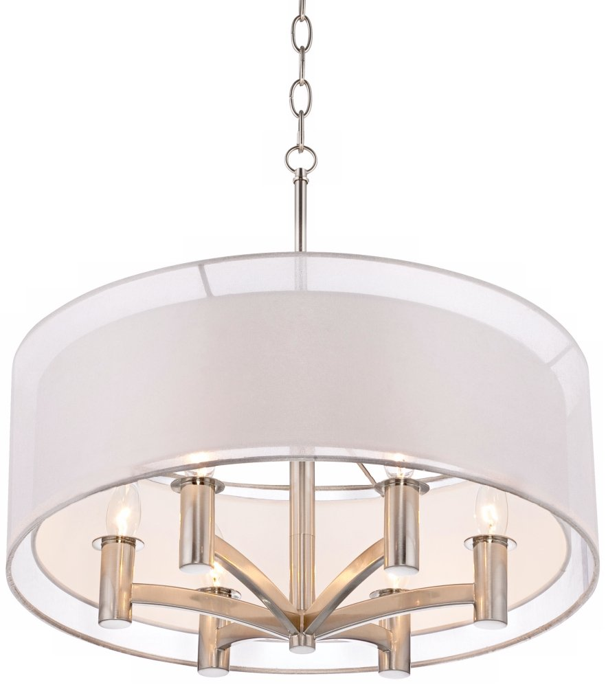 Caliari Light Brushed Nickel Inch W Pendant Light Amazon Com