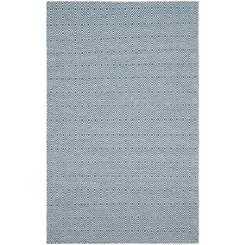 Safavieh Oasis Collection OAS525B Flat Weave Blue and Ivory Wool Area Rug (9' x 12')