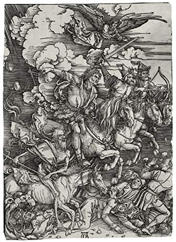 Berkin Arts Albrecht Durer Giclee Art Paper Print Art Works Paintings Poster Reproduction(The Four Horsemen of The Apocalypse) #XZZ