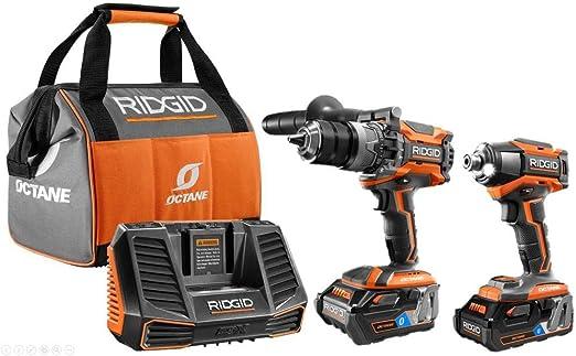 Amazon.com: Ridgid 18V OCTANE kit combinado inalámbrico de ...