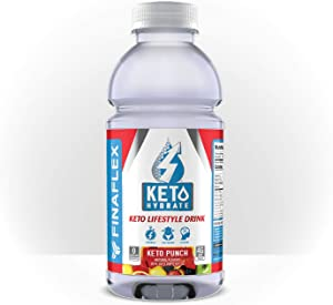 Keto Hydrate, Keto Lifestyle Drink, BHB (Ketones) for Energy, Electrolytes, Sugar and Caffeine Free, Burn Fat, Focus, Lose Weight, Perfect for Intermittent Fasting (Keto Punch Clear)