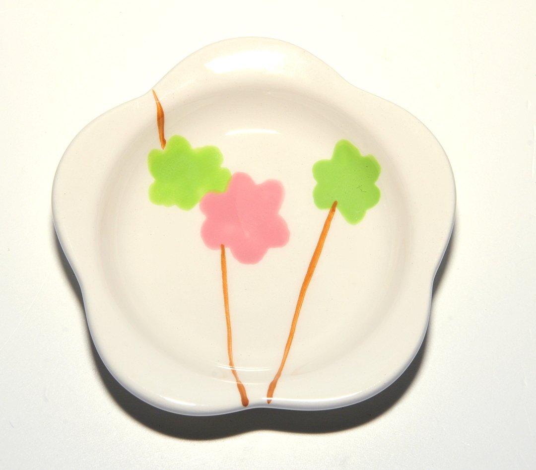 Hues & Brews Pink & Green Ceramic Flower Tea Bag Holders (Set of 6)