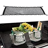 Cargo Net - Universal Stretchable Truck Net with Hooks | Organizer, Storage, Mesh, Nylon, Bungee -For Car, SUV, Truck