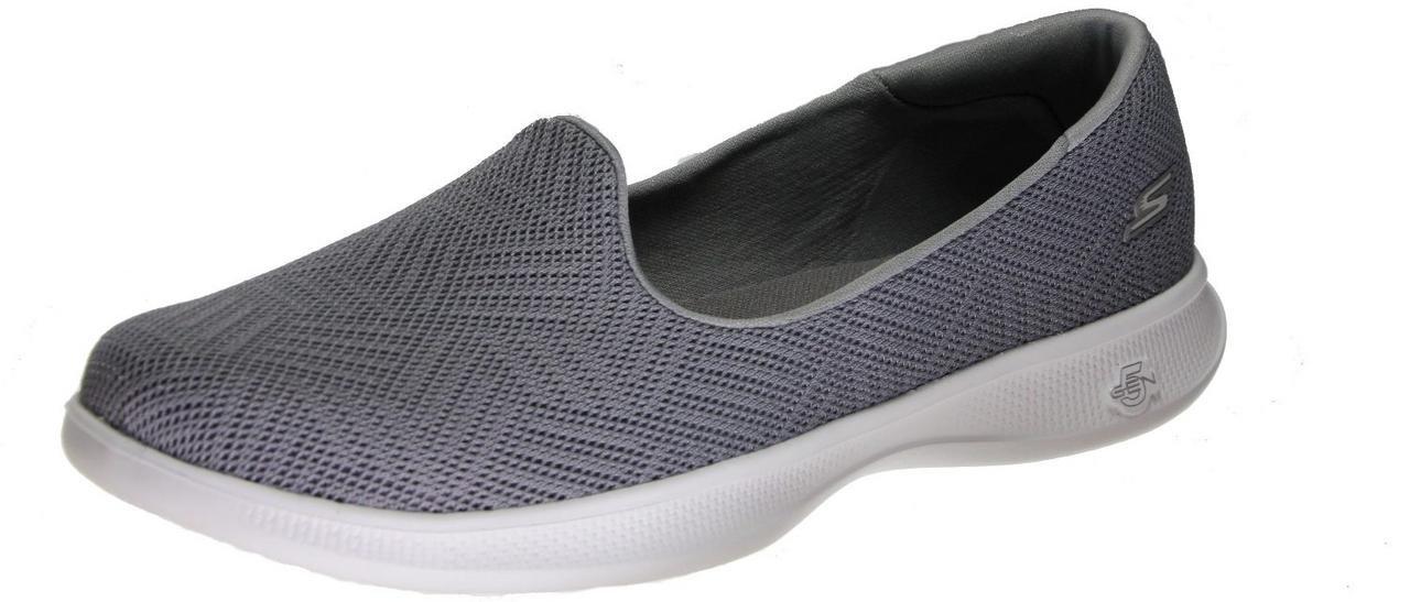 Skechers Go Step Lite Bliss Women's Flats, Grey Bliss, 10 US