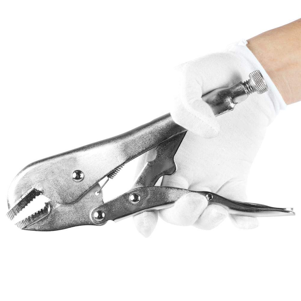 Self-Locking Pliers Alloy Steel Welding Locking Plier Lock Wrench with C-shaped Clamp for Tightening Clamping Twisting and Turning 10Pcs//Set