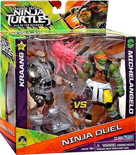"""Teenage Mutant Ninja Turtles Out of the Shadows Ninja Duel Kraang vs Michelangelo 5"""" Action Figure 2-Pack"""