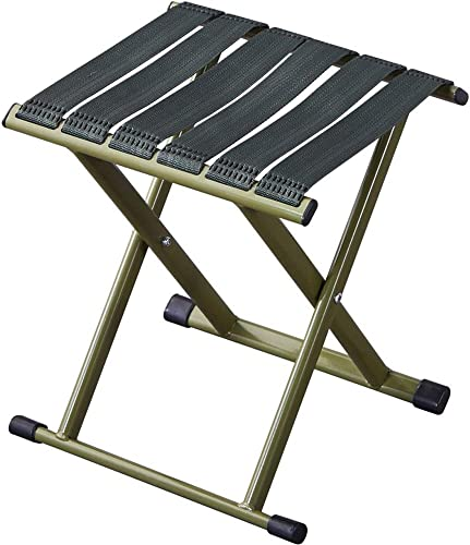 Poit Portable Folding Camping Stool Fishing Chair, 12.6X 11.4X 15.4 Inch