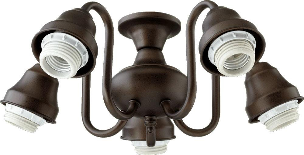 Five Light Oiled Bronze Fan Light Kit 2530-8086 by Quorum