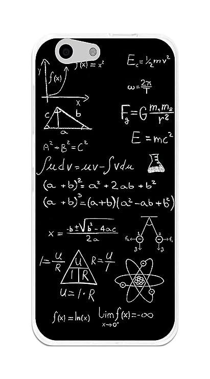Tumundosmartphone Funda Gel TPU para Orange Dive 71 / ZTE Blade A506 diseño Formulas Dibujos