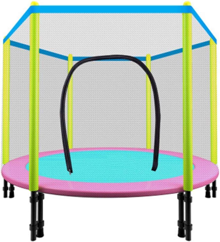 Trampolines HUAGUOSHAN Jumper Cama elástica Interior/Exterior Cama Elástica Redonda Utilizar al Aire Libre, Cama Elástica para Niños Mayores de 3 Años Infantil con Red de Seguridad para máximo150kg