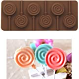 YSTD® 6 - lollipop Silicone Ice Cube Chocolate Cake Cookie Cupcake Soap Molds Mould