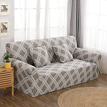 This Item Forcheer Knit Elastic Sofa Slipcover Sofa Cover Form Fit Slip  Resistant Couch Chair Protector Covers (Pattern #8 ,Sofa)