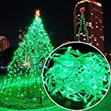 Autolizer 200 LED Green Fairy String Lights Lamp for Xmas Tree Holiday Wedding Party Decoration Halloween Showcase Displays Restaurant or Bar and Home Garden - Control up to 8 Modes