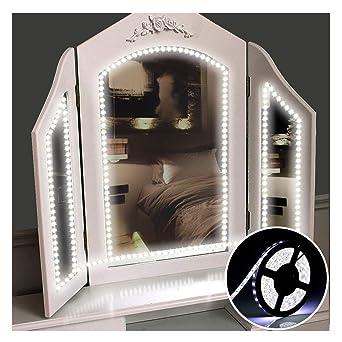 Schon Tobbiheim LED Spiegelleuchte Hollywood Stil 10 Dimmbare LED Kugellampe Kit  6000 Kelvin Kaltweiß Beleuchtung Mit 12V ...