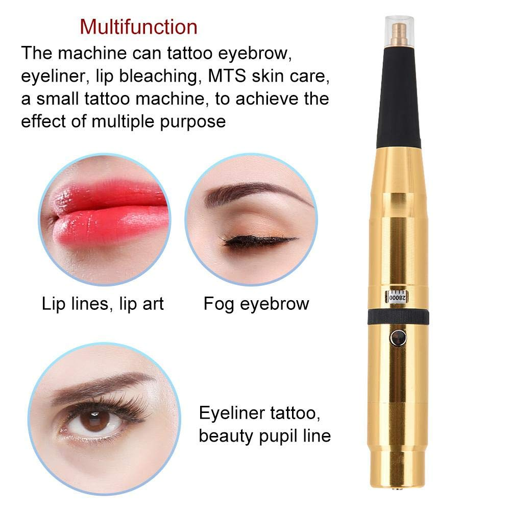 4c699e0de4f49 ... Rotary Microblading Pen, Super Quiet Rechargeable Eyebrow Comestic Tattooing  Machine Microblading Needle Pen for Semi-Permanent Fog Eyebrow Lip Makeup,  ...