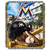 MLB Florida Marlins Acrylic Tapestry Throw Blanket