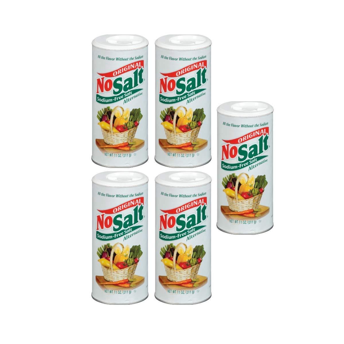 NoSalt Original Sodium-Free Salt Alternative (11oz Canister 5 pack)