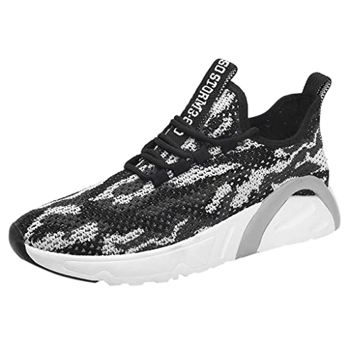 9b63c19a08e80 LMRYJQ Chaussure Homme Sport La Mode Occasionnels Confortable Respirant  LéGer Lacets Baskets De Course Outdoor Running