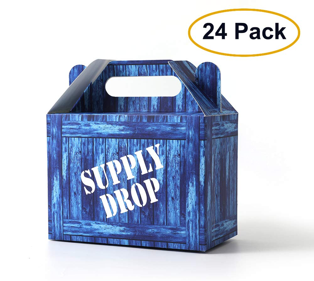 SUYEPER Game Party Box Party Supply Drop Box For Birthday Party Supplies Favors (24 Pack)