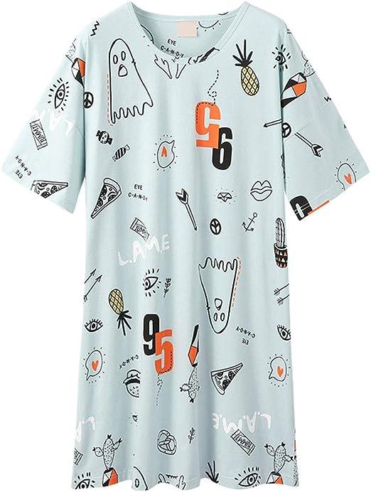 Pijama Señoras De Verano Pijamas De Algodón Dulce De Dibujos Animados Animado Camisón De Ocio En Casa Simples Pijamas Cómodos Pijama de Mujer: Amazon.es: Ropa y accesorios