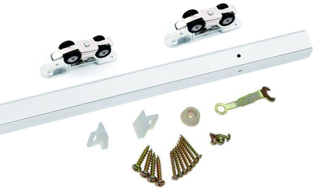 PENSON & CO. SDH-A001-00 Sliding Door Hardware (72'') Aluminium Alloy, Silver