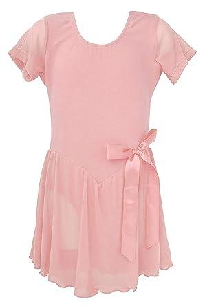 8891ed72a7cc Amazon.com  Dancina Girls Skirted Leotard Dress Ballet Dance Short ...