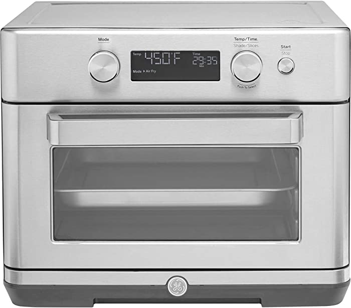 GE Digital Air Fry 8-in-1 Toaster Oven, Large Capacity Fits 9x13 Baking Pan, 8 Cook Modes of Air Fry, Bake, Broil, Convection, Keep Warm, Proof, Roast and Toast, Stainless Steel, G9OAAASSPSS
