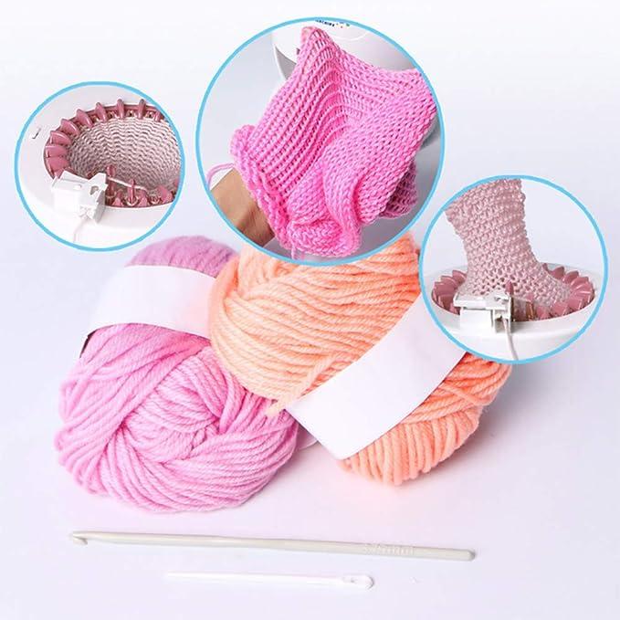 Perfeclan Knitting Machine,Weaving Looms Knitting Board Rotating for Adults//Kids DIY Knit Scarf Hat