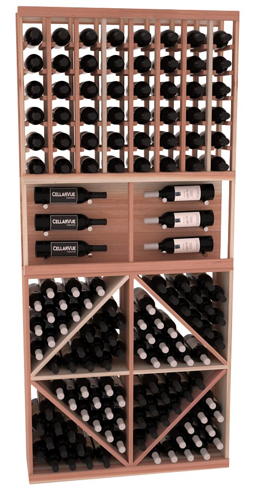 """CellarVue Redwood 35"""" Top Showcase Wine Rack Display Combo Kit 2. 13 Stains to Choose From!"""