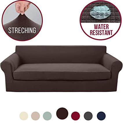 Vailge 2-Piece High Stretch Jacquard Large Sofa Slipcover, Water Resistant  XL Sofa Cover with Separate Cushion Cover, Machine Washable Couch ...