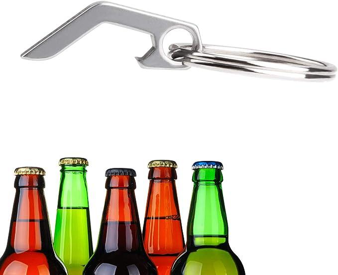 Beer Bottle Opener Tool Bar Supplies Portable Mini Stainless Steel Keychain