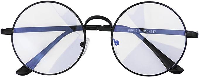 Lunettes de Lecture Rondes Femme Homme Monture Lunettes de VueProtection Vintage Anti fatigue Lunettes d'écran Transparent Anti lumière Bleue Lunette