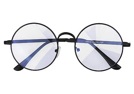99773c9562 Anti Blue Glasses Women Men Reading Glasses Oversize Round Metal Frame  Eyeglasses Spectacles Nerd Eyewear Clear