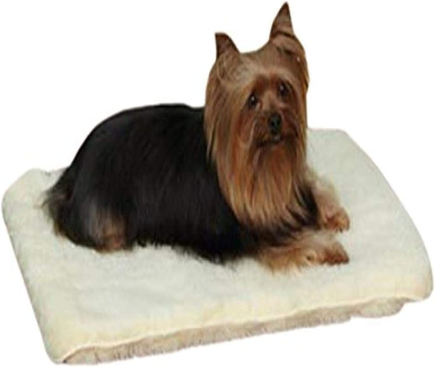 Slumber Pet Double Sided Sherpa Mats Versatile And Comfortable Mats For Dogs And Cats X Small Natural Pet Bed Mats Pet Supplies