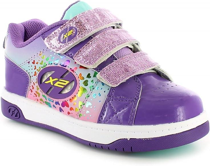 Light up HX2 Wheel skate shoes Purple
